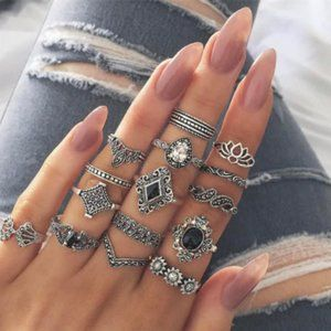 ❌SOLD❌Jewelry-Bohemian 15pcs ring set for women